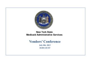 New York State Medicaid Administrative Services