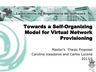 Towards  a Self-Organizing  Model for Virtual Network Provisioning