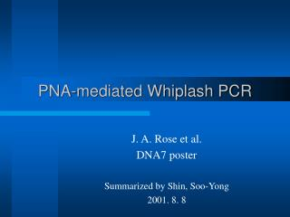 PNA-mediated Whiplash PCR