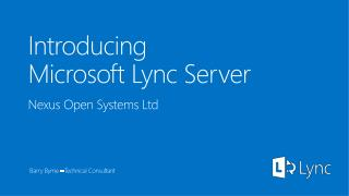 Introducing  Microsoft Lync  Server