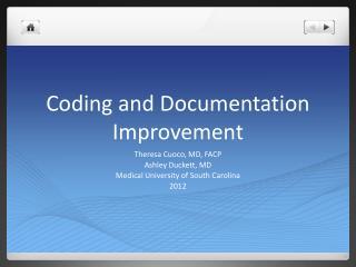 Coding and Documentation Improvement