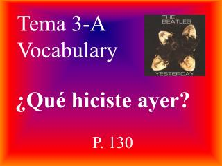 Tema 3-A Vocabulary