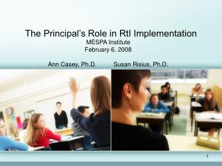 The Principal�s Role in RtI Implementation