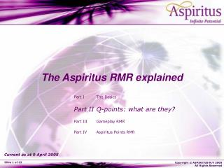 The Aspiritus RMR explained