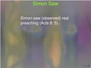 Simon Saw