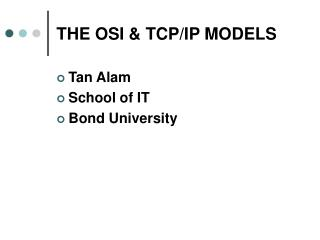 THE OSI  TCP