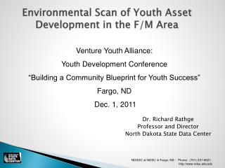 Environmental Scan of Youth Asset Development in the F/M Area
