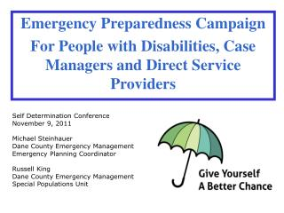 Emergency Preparedness Campaign