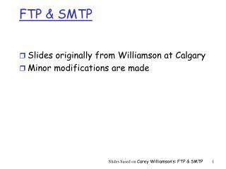 FTP  SMTP