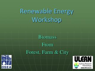 Renewable Energy Workshop