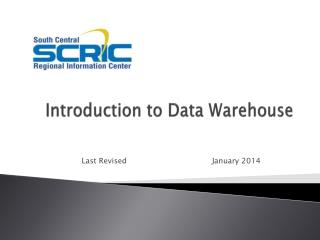 Introduction to Data Warehouse