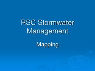 RSC Stormwater Management