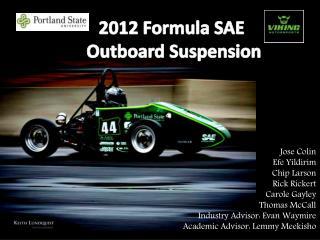 2012 Formula SAE  Outboard Suspension
