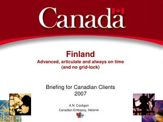 Finland Advanced, articulate and always on time (and no grid-lock)