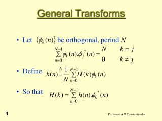 General Transforms