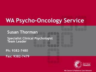 WA Psycho-Oncology Service