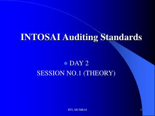 INTOSAI Auditing Standards