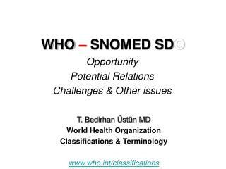 WHO  �  SNOMED SD O