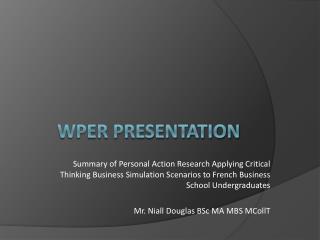 WPER Presentation