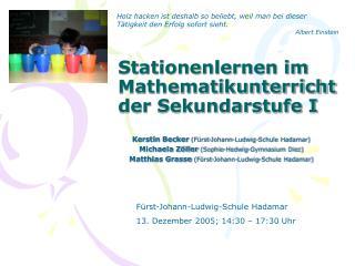 Stationenlernen im Mathematikunterricht der Sekundarstufe I