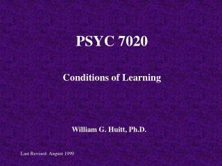 PSYC 7020