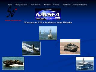 Welcome to SEI�s SeaPort-e  Team  Website