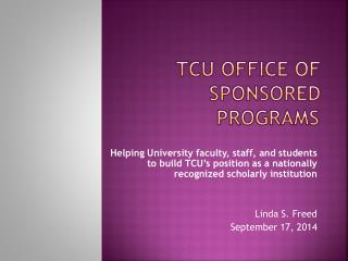 TCU Office of Sponsored Programs