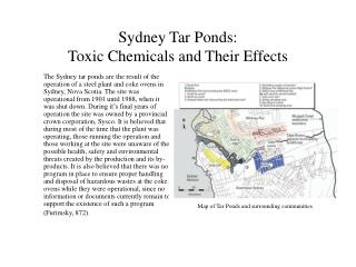 Sydney Tar Ponds:  Toxic Chemicals and Their Effects