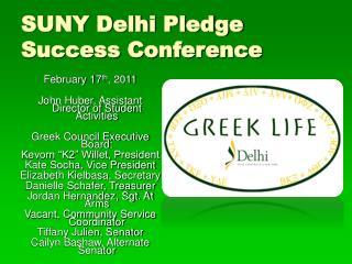 SUNY Delhi Pledge Success Conference