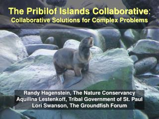 The Pribilof Islands Collaborative : Collaborative Solutions for Complex Problems