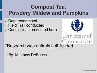 Compost Tea, Powdery Mildew and Pumpkins