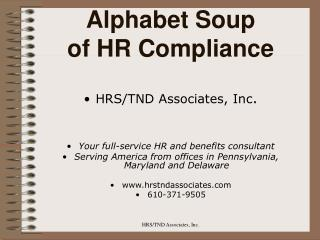 Alphabet Soup of HR Compliance