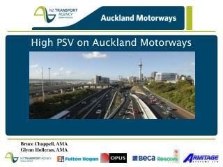 High PSV on Auckland Motorways