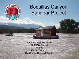 Boquillas Canyon Sandbar Project