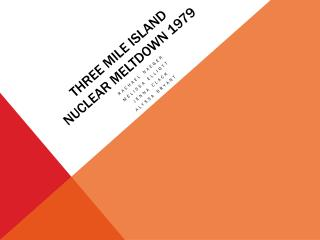 Three mile island NUCLEAR MELTDOWN 1979