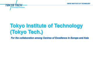 Tokyo Institute of Technology (Tokyo Tech.)