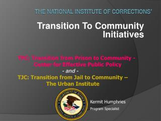 The National Institute of Corrections'