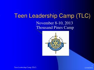 Teen Leadership Camp (TLC)