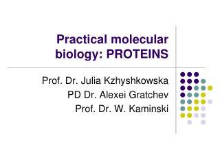 Practical molecular biology: PROTEINS