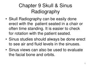 Chapter 9 Skull & Sinus Radiography