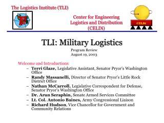 TLI: Military Logistics