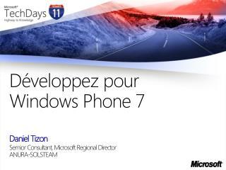 D veloppez pour Windows Phone 7