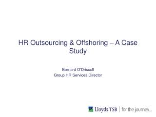 HR Outsourcing & Offshoring – A Case Study