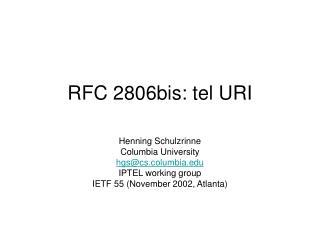 RFC 2806bis: tel URI