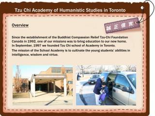 Tzu Chi Academy of Humanistic Studies in Toronto