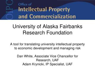 University of Alaska Fairbanks Research Foundation