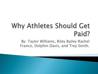 Why Athletes Should Get Paid?