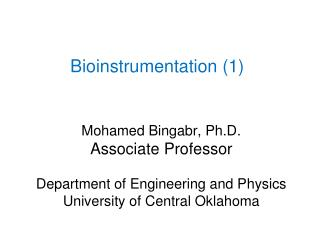 Bioinstrumentation (1)