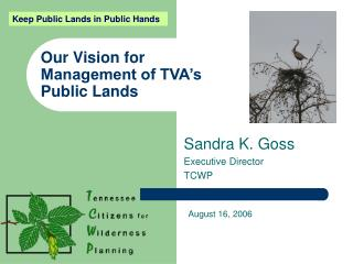 Our Vision for  Management of TVA�s Public Lands