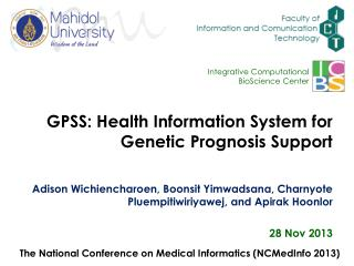 GPSS: Health Information System for Genetic Prognosis Support